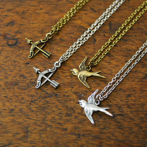 Arrows and Sparrows Charm Necklace