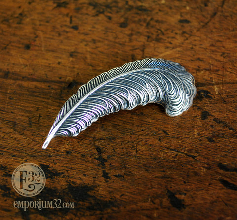 Silver Feather Hair Clip