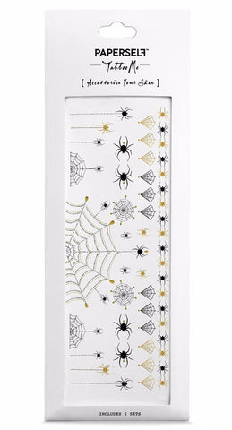 Spiders and Webs Temporary Tattoos
