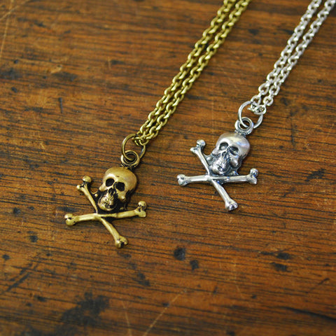 Jolly Roger Charm Necklace