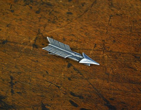 Silver Arrow Hair Clip