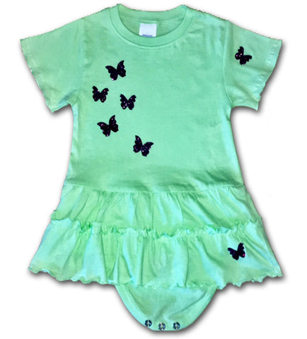 Baby Girl Green Ruffles Butterfly Dress Me And Boo