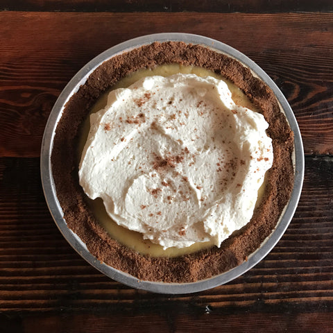 Eggnog Pudding Pie with Ginger Snap Crust [FRI-SUN ONLY]