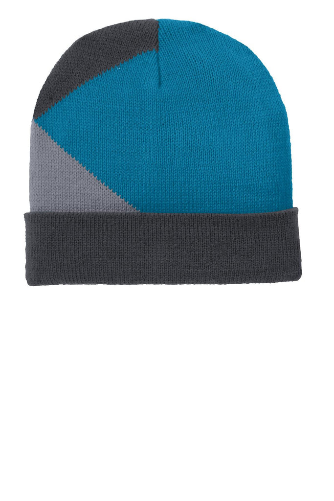 Port Authority® Cuffed Colorblock Beanie. C906