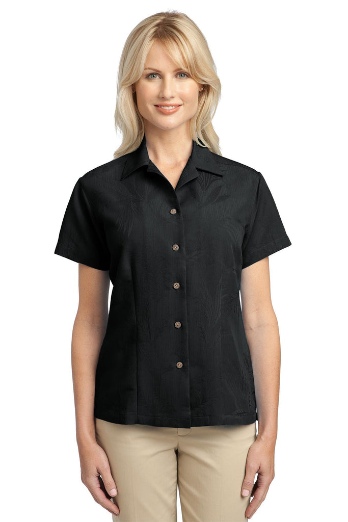 Port Authority® Ladies Patterned Easy Care Camp Shirt. L536