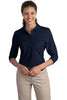 Port Authority® Ladies Silk Touch 3/4-Sleeve Polo. L562""
