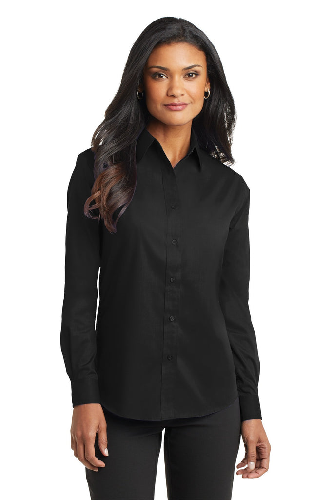Port Authority® Ladies Long Sleeve Value Poplin Shirt. L632