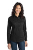 Port Authority® Ladies Stain-Resistant Roll Sleeve Twill Shirt. L649