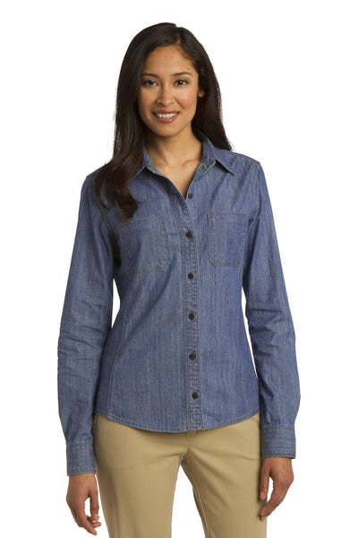 Port Authority® Ladies Patch Pockets Denim Shirt. L652