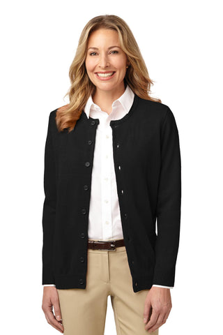 Port Authority® Ladies Value Jewel-Neck Cardigan. LSW304