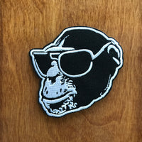 Monkey Head Embroidered Patch