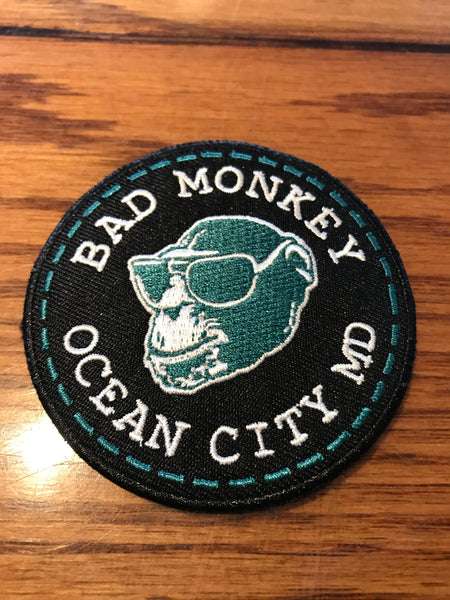 Bad Monkey Hangtag Embroidered Patch
