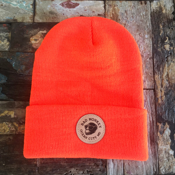 Bad Monkey Leather Patch Beanie