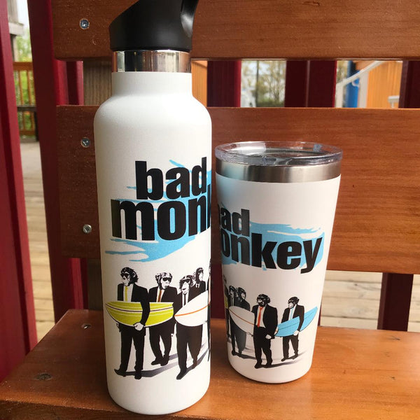 Surf Monkey Flip Top Water Bottle