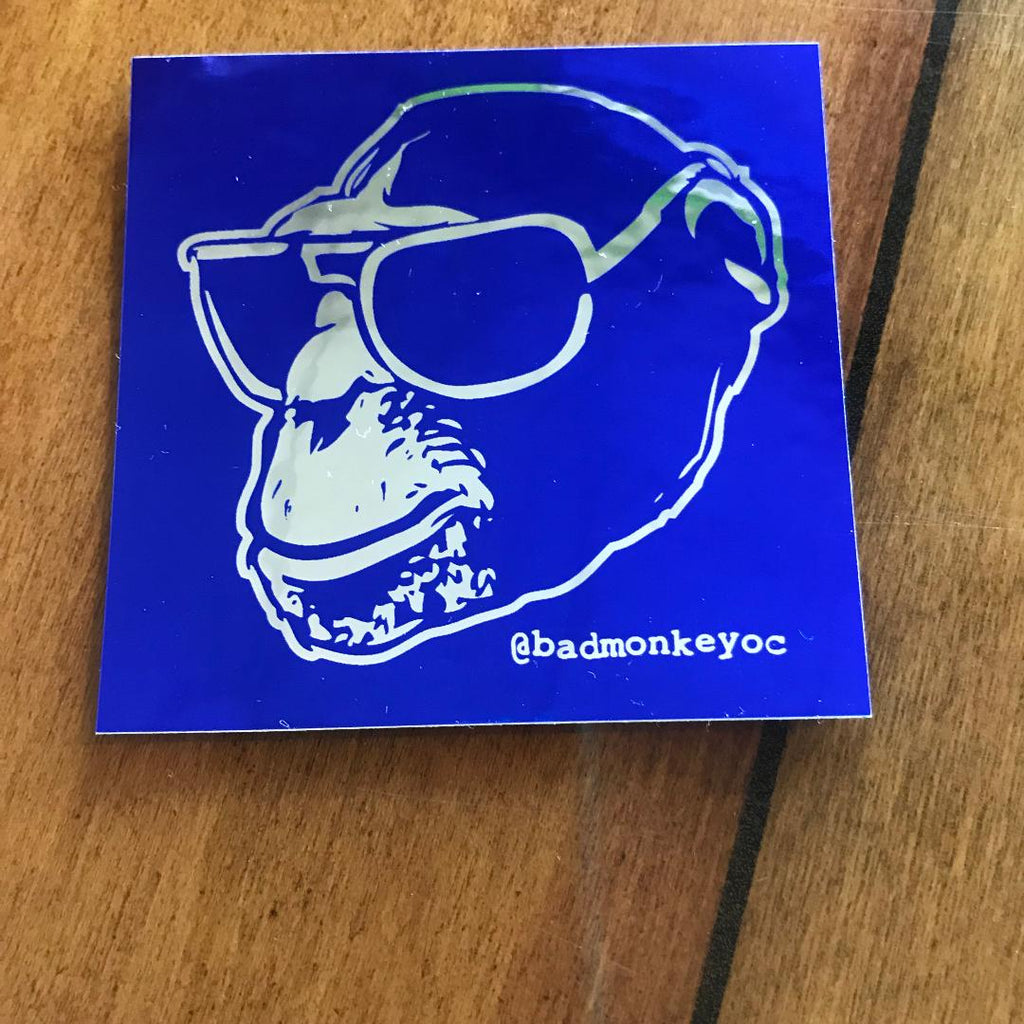 Monkey Head Foil Sticker