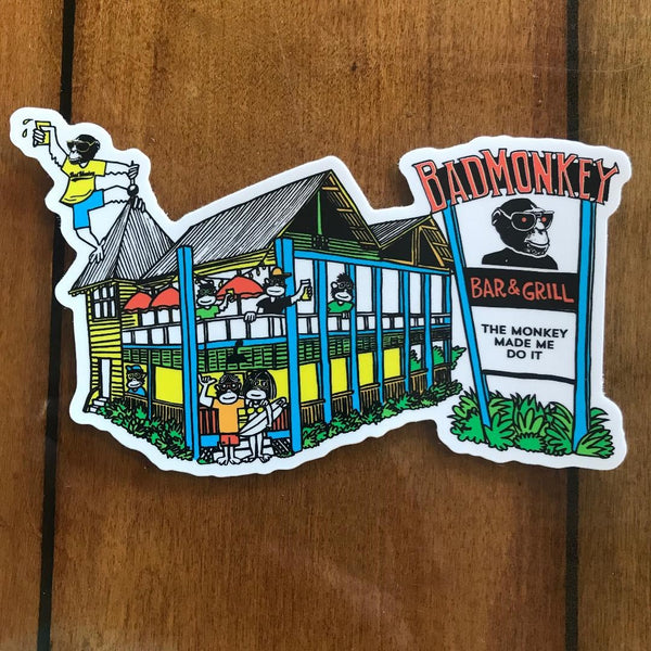 House of Monkey Sticker