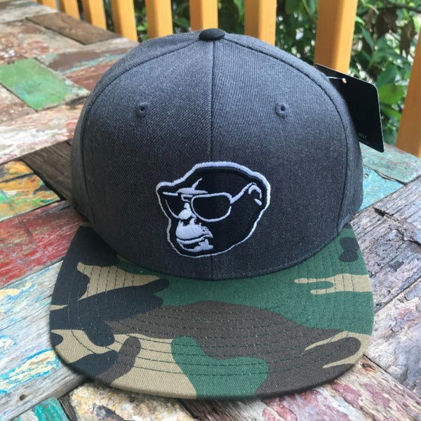 Camo Brim Monkey Head Snapback