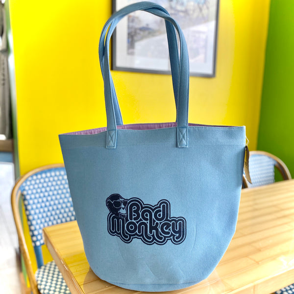 JB Monkey Canvas Tote Bag