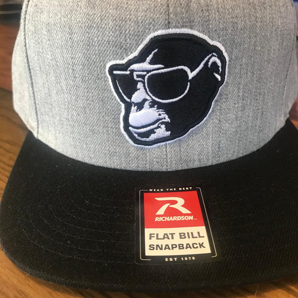 Black Brim Monkey Head Snapback
