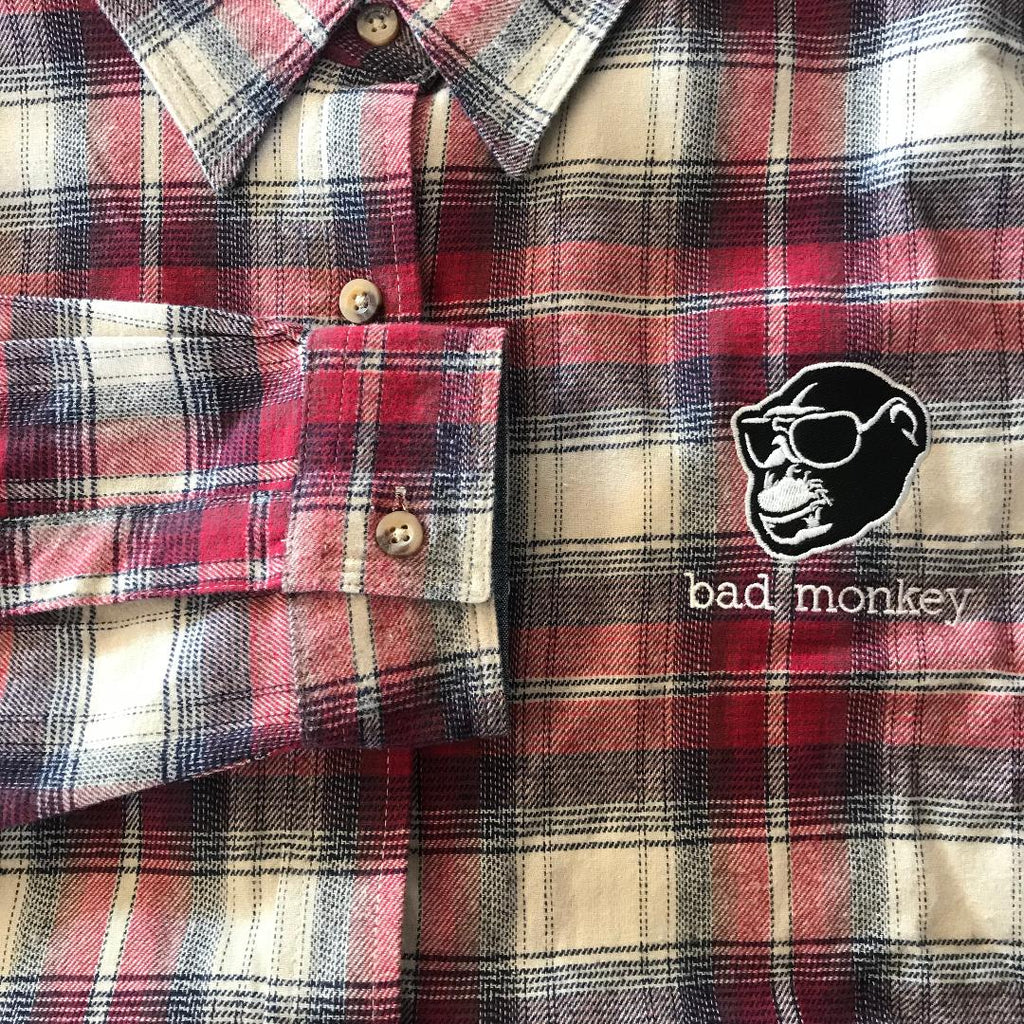 Bad Monkey Ladies Plaid Flannel Shirt
