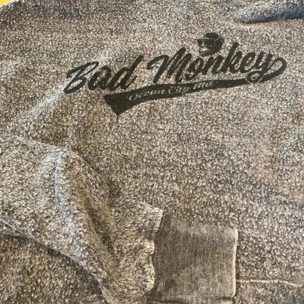College Monkey Reverse Fleece Hoodie