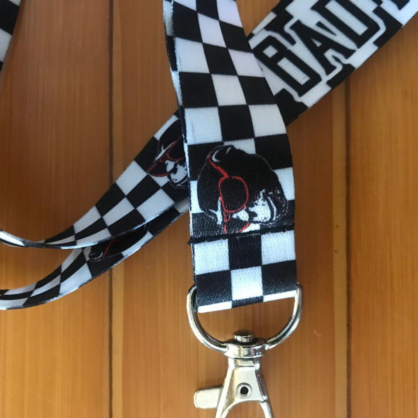 Checker Monkey Lanyard