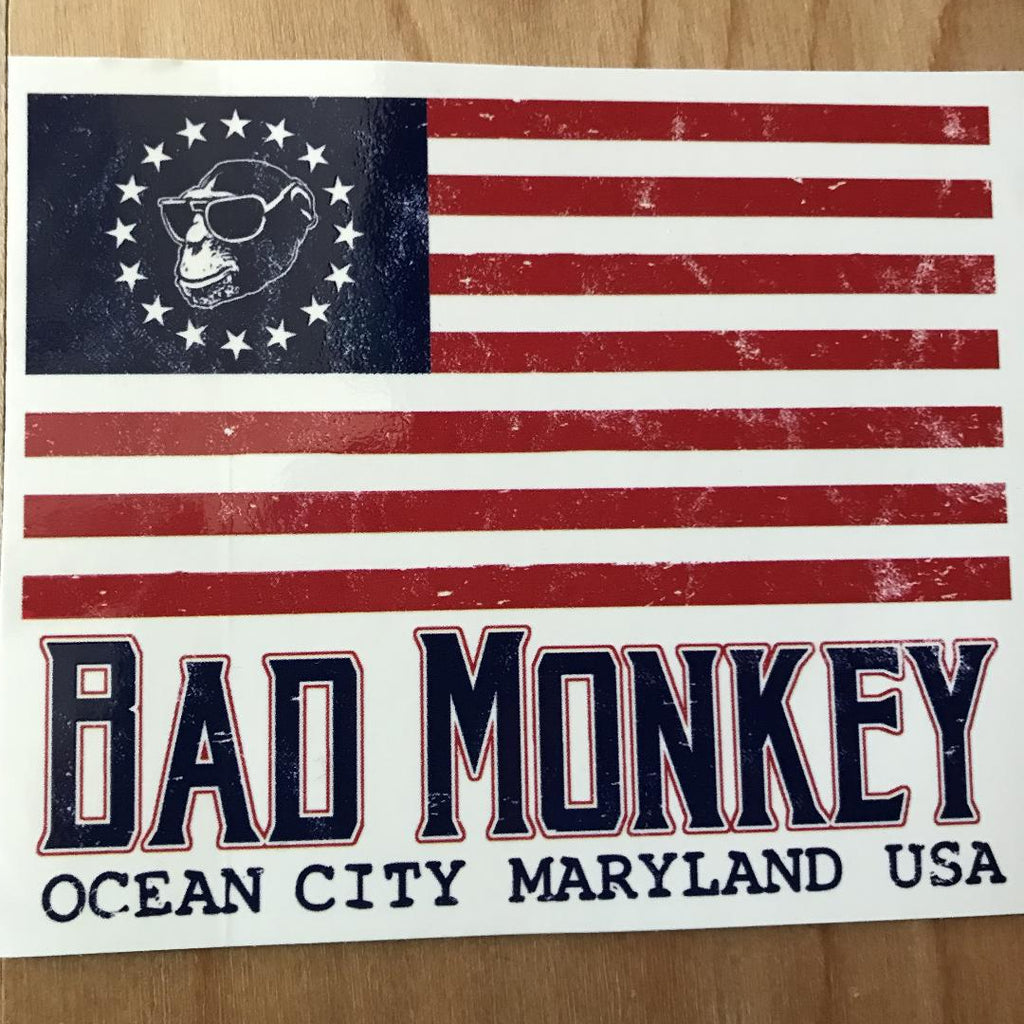 Bad Monkey Flag Sticker