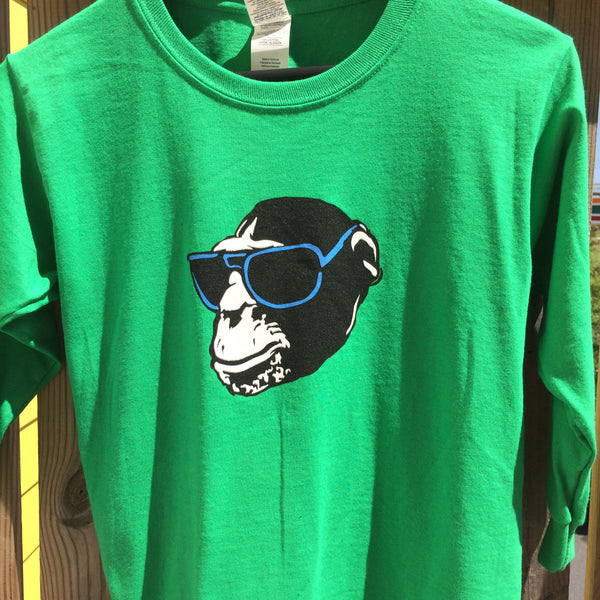 Monkey Head Kid's Long Sleeve T-Shirt