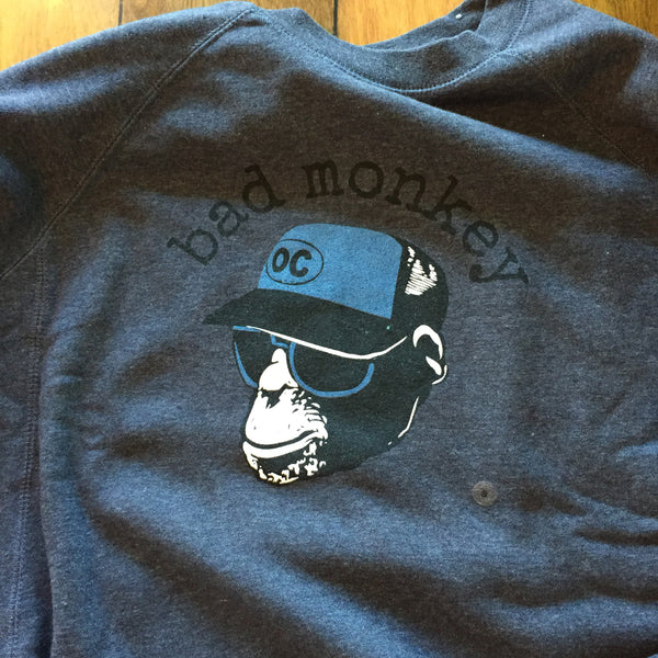 Trucker Monkey (No Smoke) Crew Neck Sweatshirt