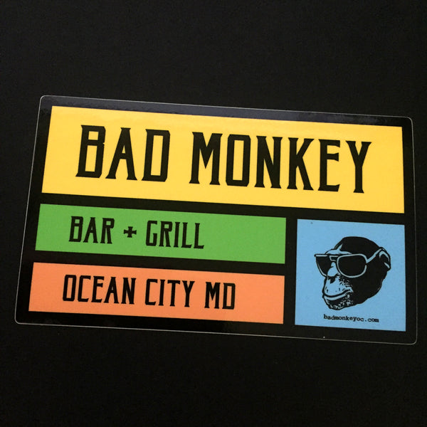 Bad Monkey Colorbox Sticker