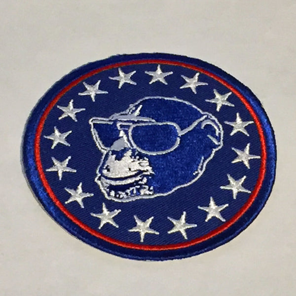 Liberty Monkey Embroidered Iron-On Patch