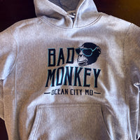 gray heather bad monkey hoodie
