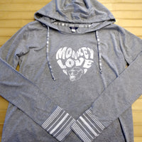 Monkey Love Ladies Hooded T-Shirt
