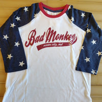 Stars 3/4 Sleeve ADULT Baseball Shirt