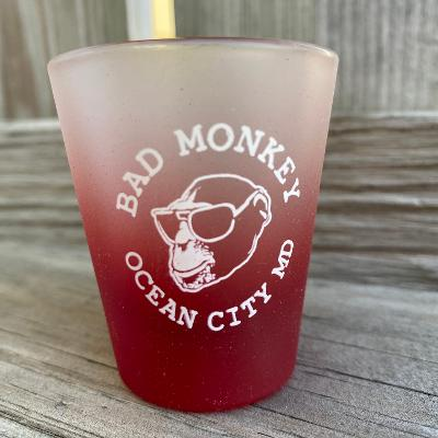 Bad Monkey Frosted Shot Glass