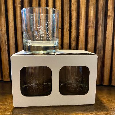 Bad Monkey Whiskey Glass 2-Pack