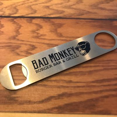 Bad Monkey Gold Paddle Bottle Opener