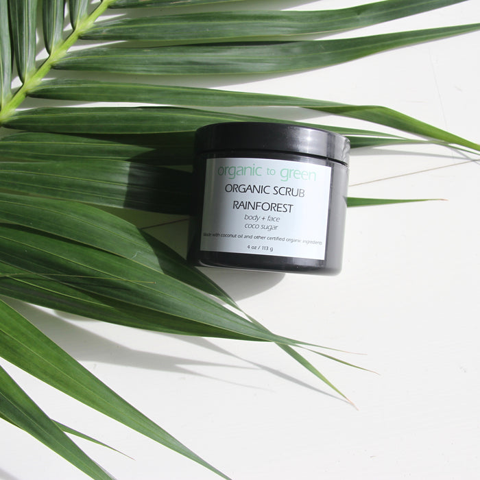 RAINFOREST Organic Coconut Oil Sugar Scrub