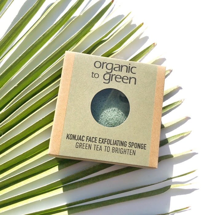 Konjac Face Exfoliating Sponge - Green Tea