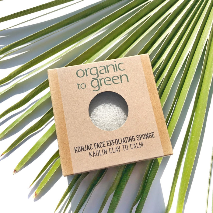 Konjac Face Exfoliating Sponge - Kaolin Clay