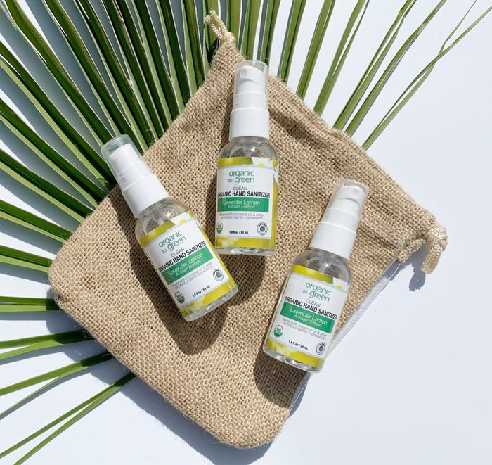 Organic Hand Sanitizer Travel Size Trio