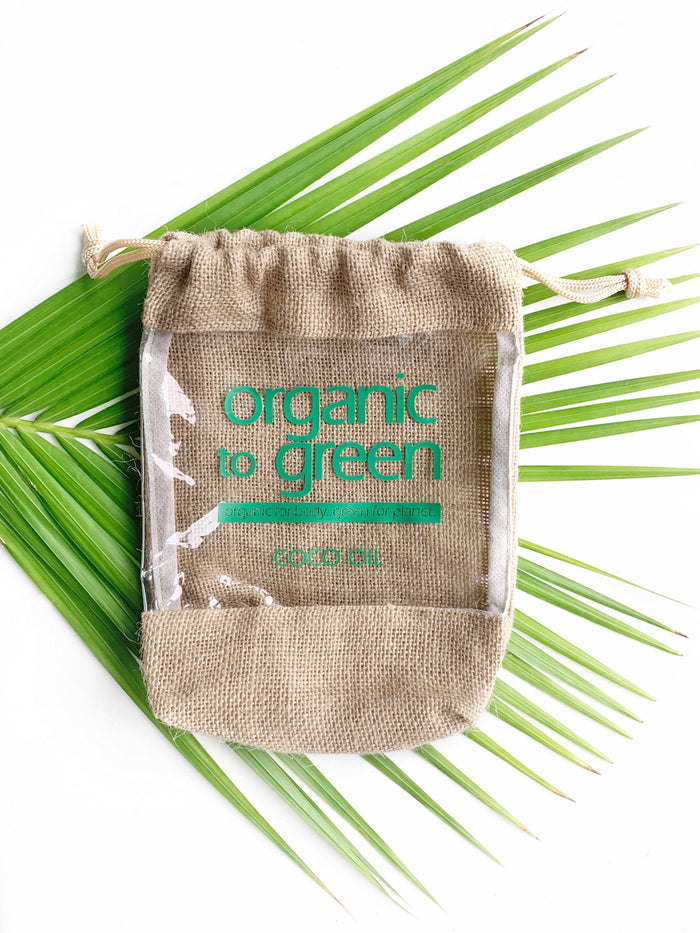 Organic to Green Jute Drawstring Bag