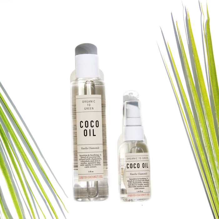 Liquid Coconut Oil Vanilla Chamomile - Sensitive & Soothing Coco Oil