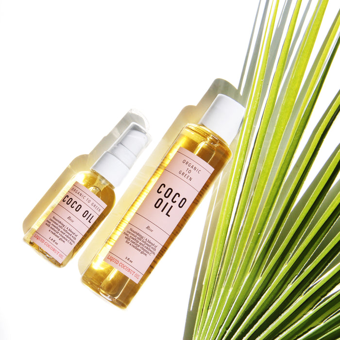 Liquid Coconut Oil Rose - Anti-Aging Coco Oil