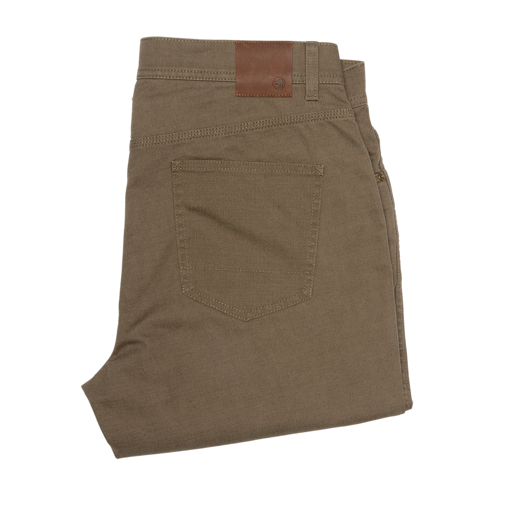 Duck Head Five Pocket Pinpoint Canvas, Dark Olive