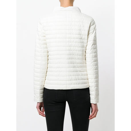 Herno Button Closure Woven Jacket, Bianca/Nero