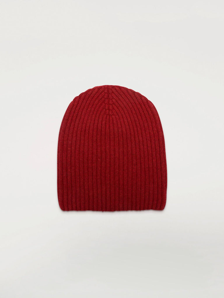 Begg & Co Cashmere Alex Beanie, Red Deer