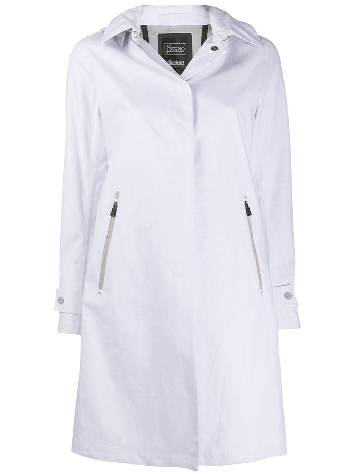 Herno Linen Raincoat, White