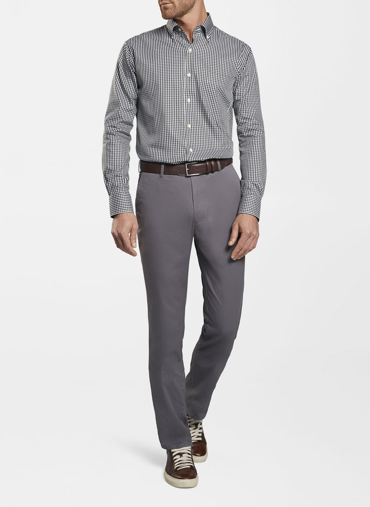 Peter Millar Soft Touch Twill Flat Front Pant, Iron