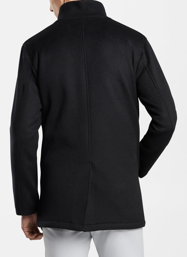Peter Millar Crown Flex Fleece City Coat, Black